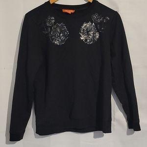 2/$20 Joe Fresh black sequined pullover